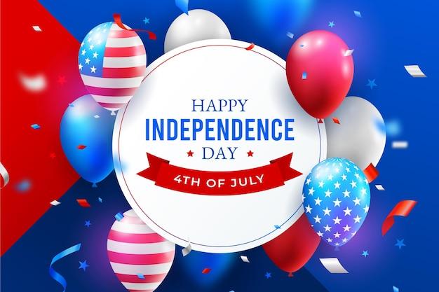 4 de julho realista - ilustração do dia da independência