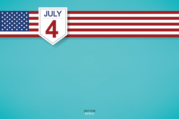 4 de julho - sinal de fundo abstrato e símbolo para os eua.