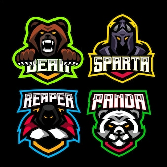 4 defina o modelo de logotipo do jogo de mascote