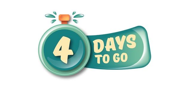 4 dias para ir para o modelo de design de banner