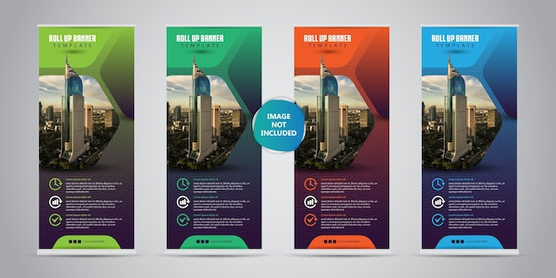4 diferentes cores business roll up.