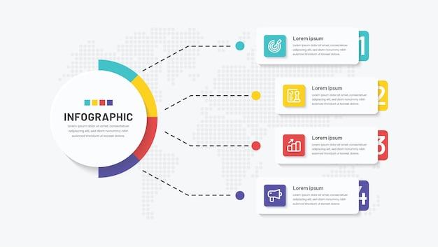 4 etapas de design criativo do infográfico