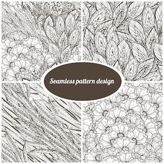 4 padrões florais