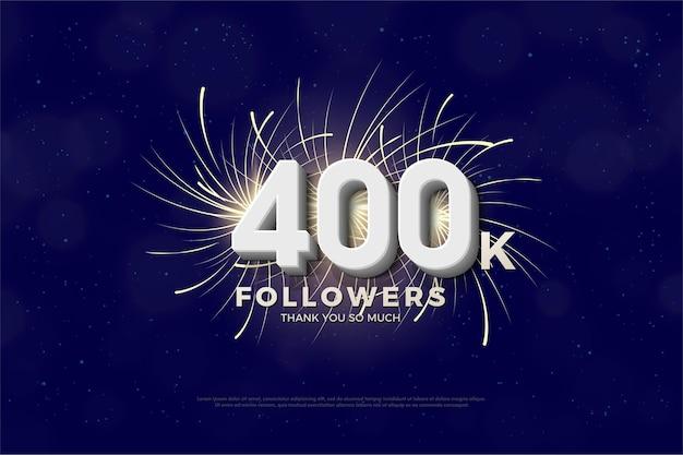 40 mil seguidores com ilustração de fogos de artifício atrás