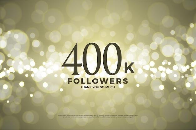 40 mil seguidores com ilustração de folha de ouro