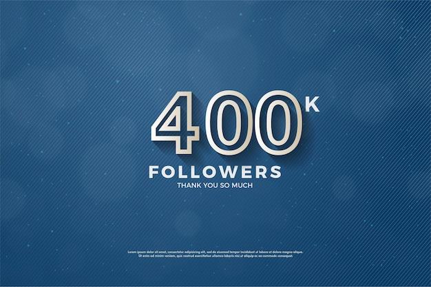 40 mil seguidores com números de borda marrom