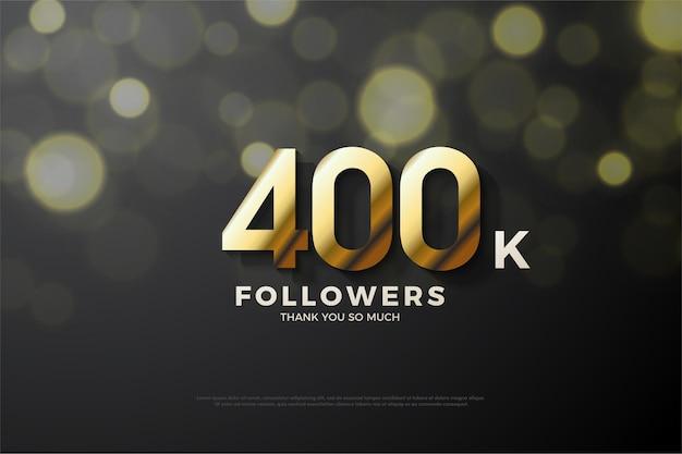 40 mil seguidores com números dourados
