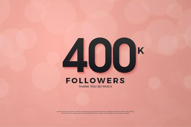 40 mil seguidores com números pretos em fundo rosa