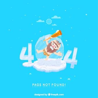 404 background de erro em estilo plano