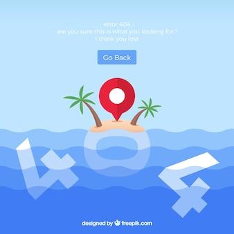 404 conceito de erro com a ilha