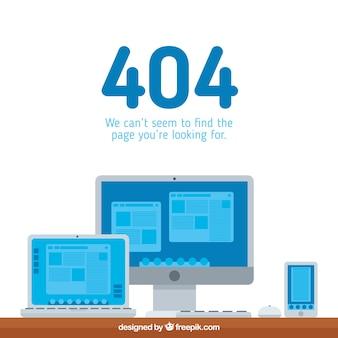 404 conceito de erro com computador