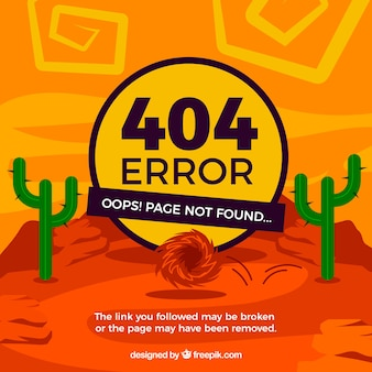 404 conceito de erro com deserto