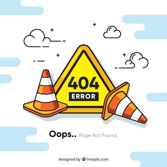 404 conceito de erro com obras rodoviárias