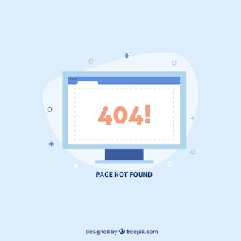 404 conceito de erro com tela branca