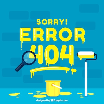 404 conceito de erro com tinta
