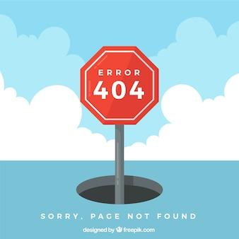 404 design de erro com sinal