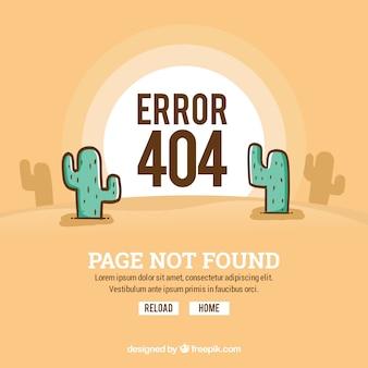404 erros de fundo com deserto