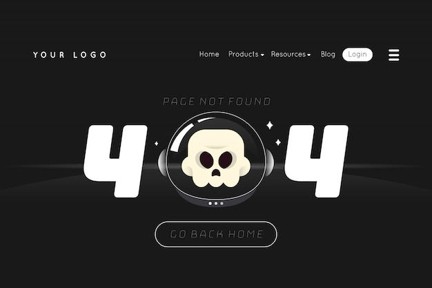 404 página de destino do erro