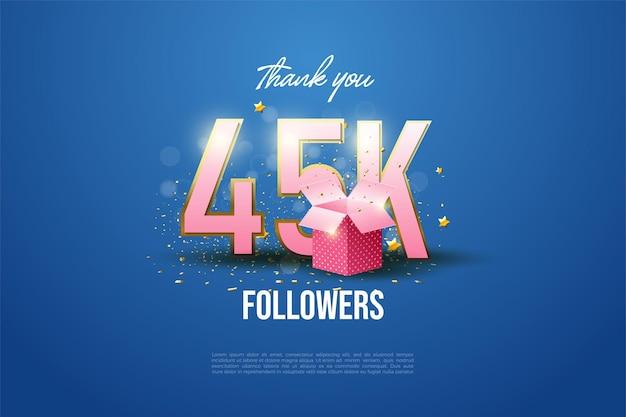45k seguidores e caixa de presente.