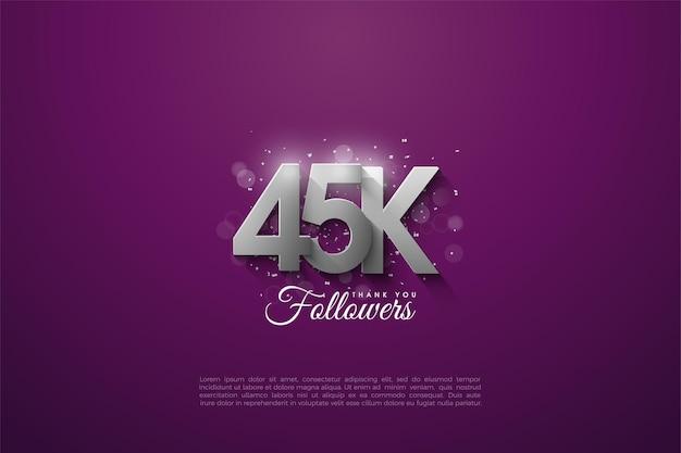 45k seguidores.