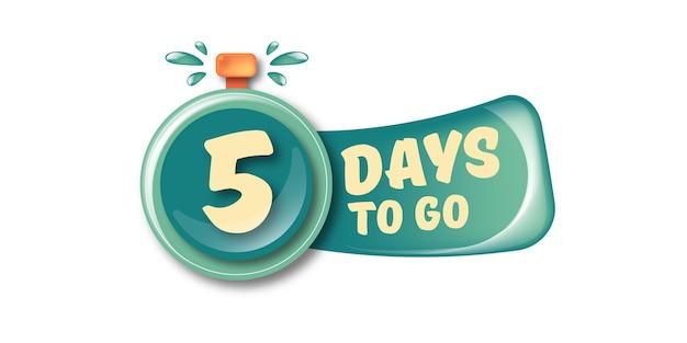 5 dias para ir para o modelo de design de banner