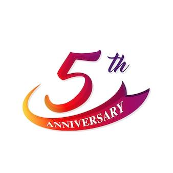 5 emblema de aniversário
