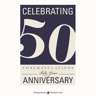 50 anos de aniversário do vetor