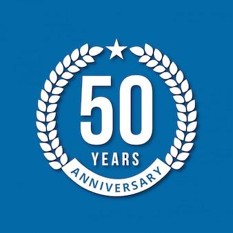 50 anos de celebrações design vector