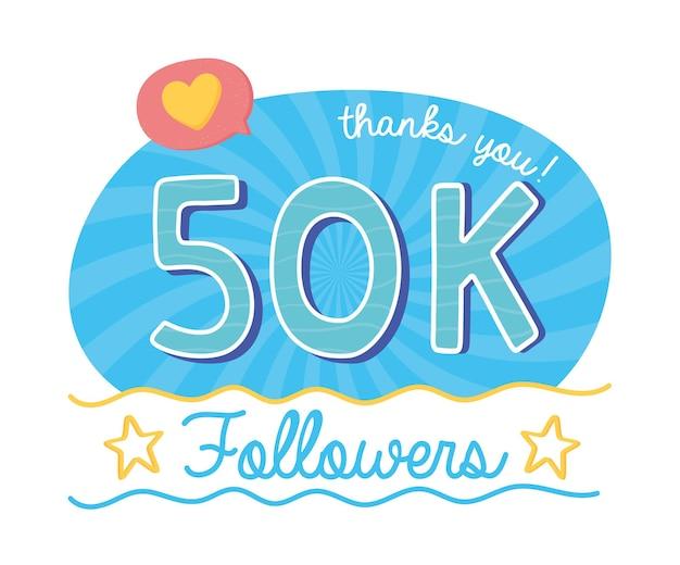 50 mil seguidores de mídia social