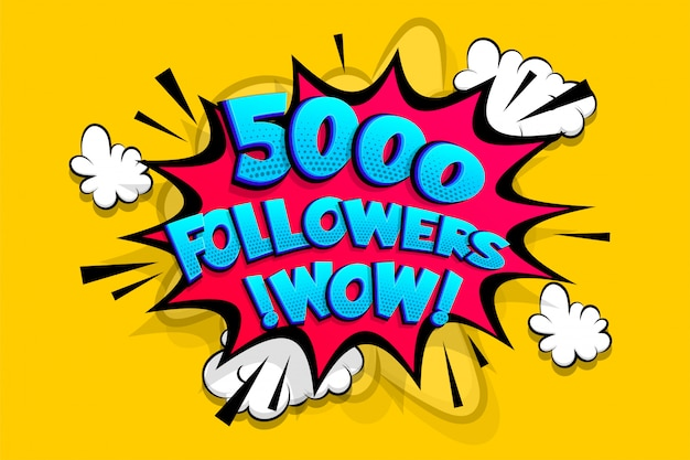 5000 seguidores obrigado por mídias como