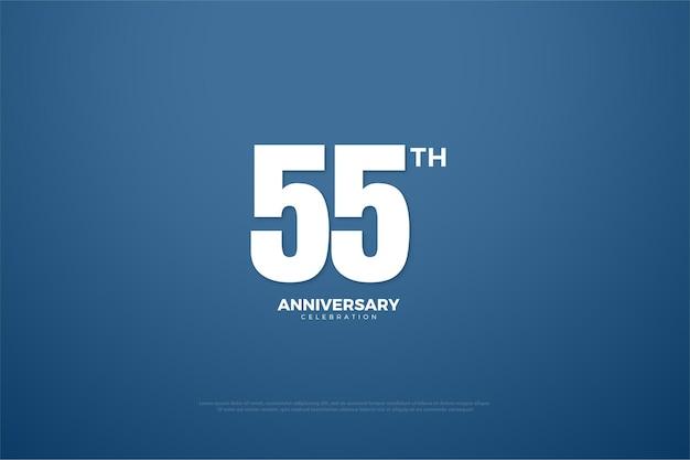 55º aniversário com design simples