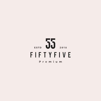 55 cinquenta e cinco números logo vector ícone sinal
