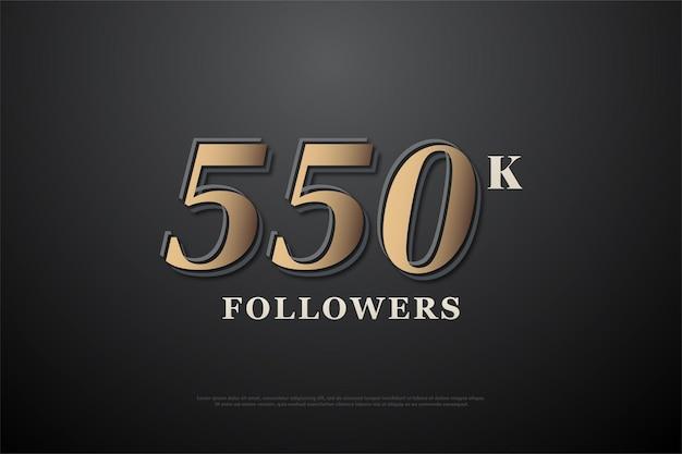 550 mil seguidores com um design simples