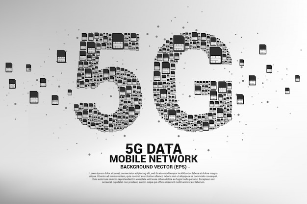 5g de rede de cartão sim móvel