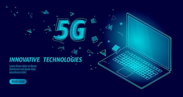5g nova conexão sem fio à internet wi-fi.