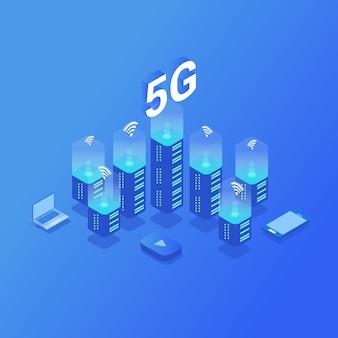 5g nova conexão wi-fi à internet sem fio.