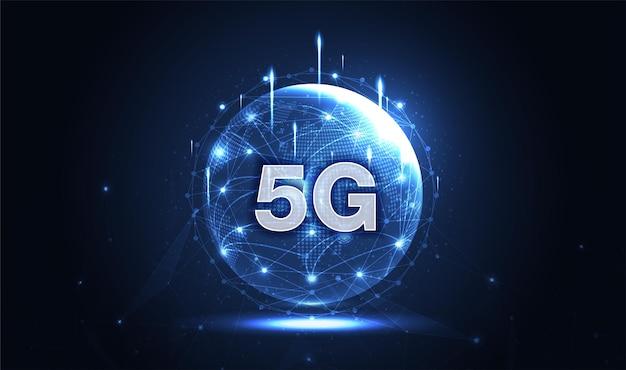 5g rede sem fio internet conexão wi-fi conceito de rede de comunicação banda larga de alta velocidade