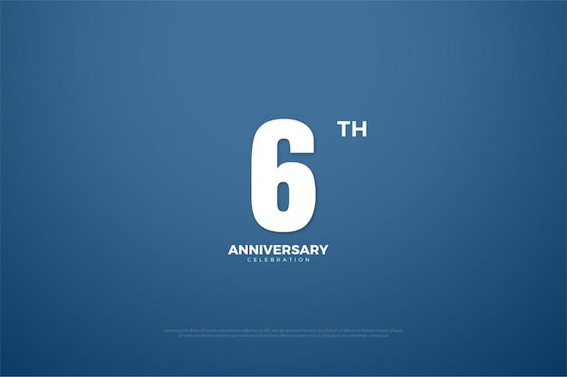 6º aniversário com número em dinheiro