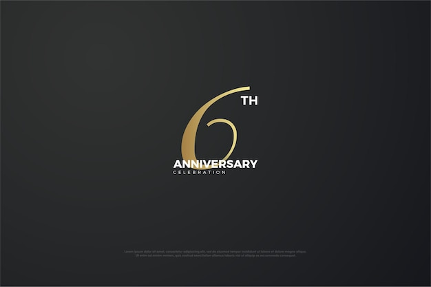 6º aniversário com número único