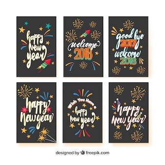 6 cartões para um feliz ano novo