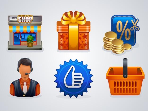 6 ícones de compras