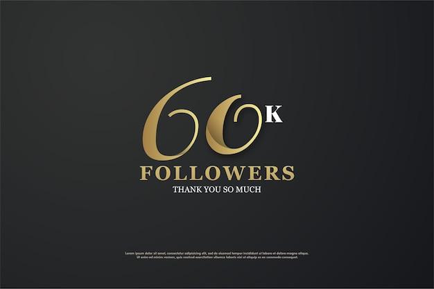 60 mil seguidores com números únicos.
