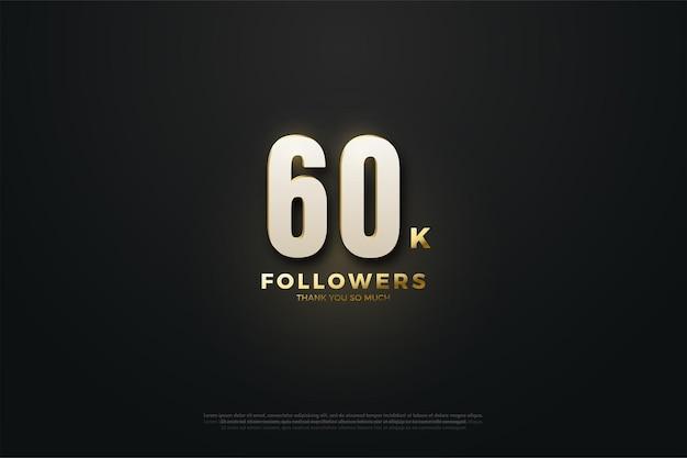 60k seguidores com figuras iluminadas.