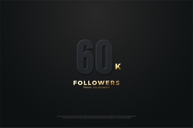 60k seguidores com números escuros.