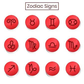 65. ícone de coleção de signos do zodíaco