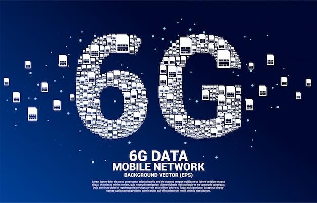 6g de rede de cartão sim móvel