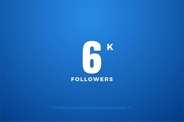 6k seguidores com design simples