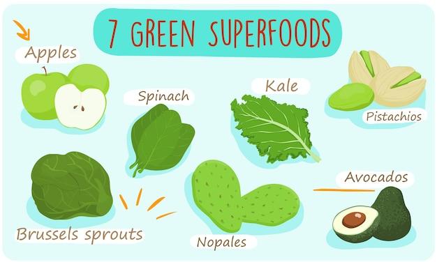 7 alimentos verdes que você deve comer