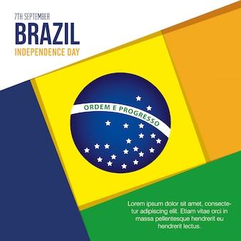 7 de setembro, bandeira da celebração do dia da independência do brasil