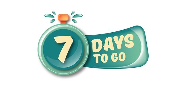 7 dias para ir para o modelo de design de banner